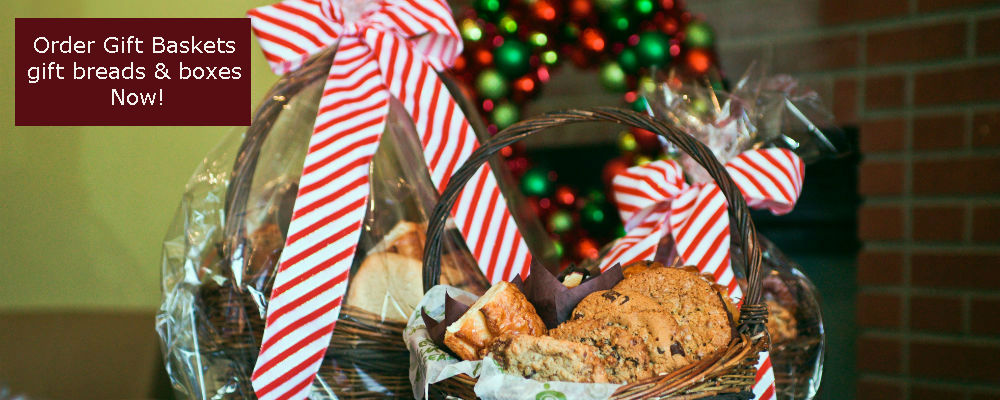 Gift Baskets, gift breads, gift boxes